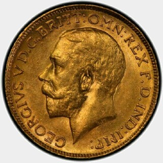 1918-M  Full Sovereign obverse