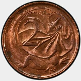 1968 Sans SD Two Cent reverse