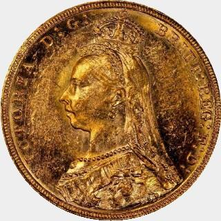 1890-M  Full Sovereign obverse