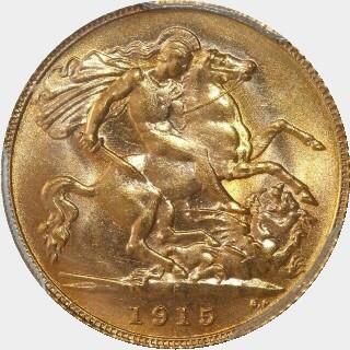 1915-P  Half Sovereign reverse
