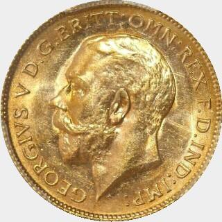 1915-P  Half Sovereign obverse