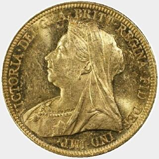 1896-M  Full Sovereign obverse