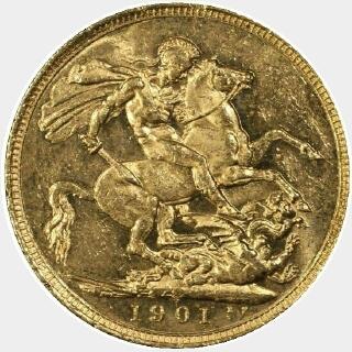 1901-S  Full Sovereign reverse