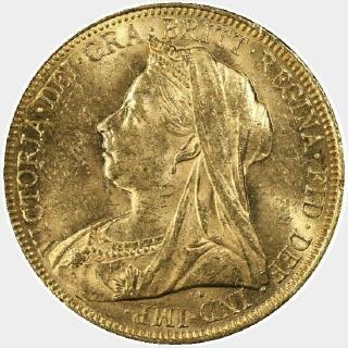 1901-S  Full Sovereign obverse