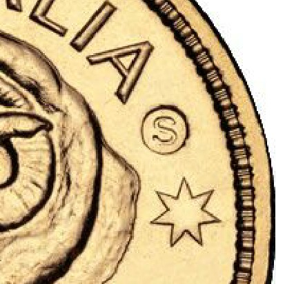 Sydney (S) privy-mark on a 2011-S One Dollar (Ram Head) piece.