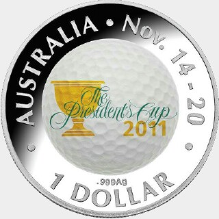 2011 Silver Proof One Dollar reverse