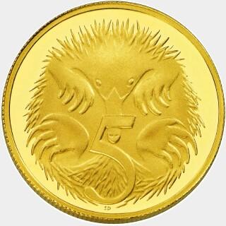 2012 Proof Five Cent reverse