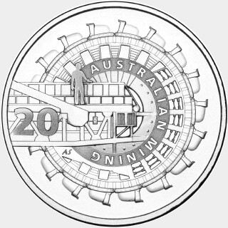 2013 Proof Twenty Cent reverse