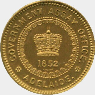 1852 Restrike (1921) Adelaide Five Pound obverse