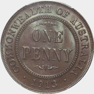 1913  Penny reverse