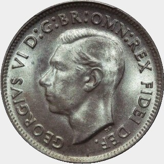 1950  One Shilling obverse