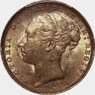 1883-S Wide Truncation Short Tail Full Sovereign obverse