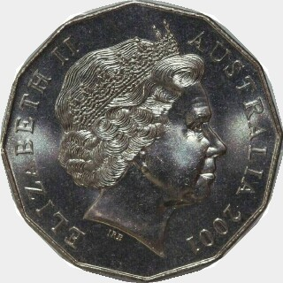 2001  Fifty Cent obverse
