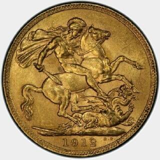 1912-P  Full Sovereign reverse