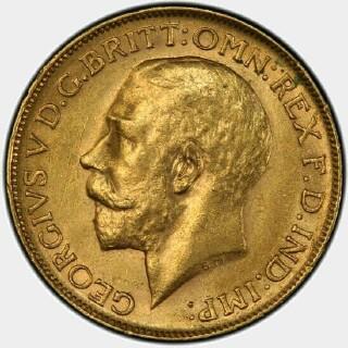 1912-P  Full Sovereign obverse