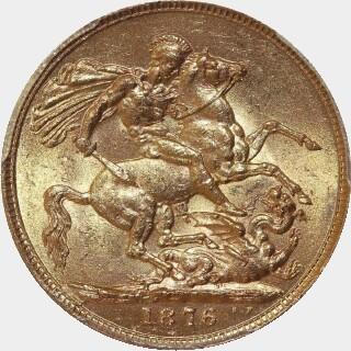1876-S Narrow Truncation Long Tail Full Sovereign reverse