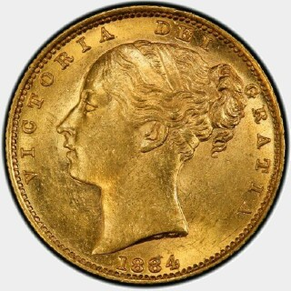 1884-S  Full Sovereign obverse