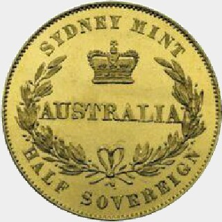 1853  Half Sovereign reverse