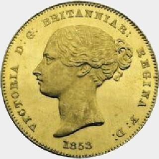 1853  Half Sovereign obverse