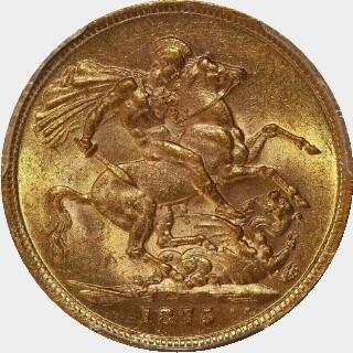 1875-M Narrow Truncation Long Tail Full Sovereign reverse