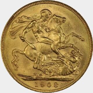 1908-S  Full Sovereign reverse