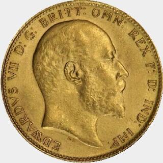 1908-S  Full Sovereign obverse