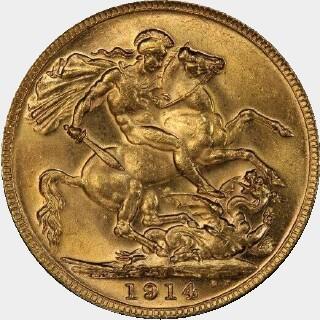 1914-M  Full Sovereign reverse
