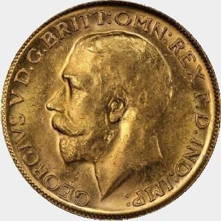 1914-M  Full Sovereign obverse