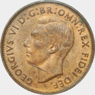 1950-Y  Half Penny obverse