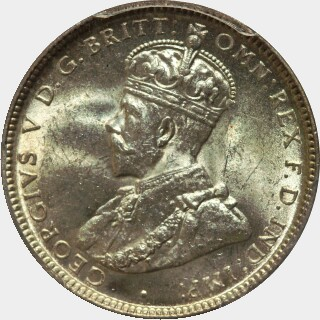 1918-M  One Shilling obverse