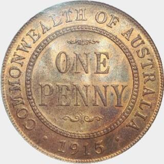 1915-H  Penny reverse