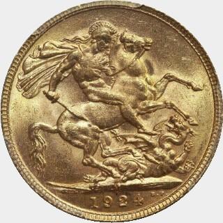 1924-M  Full Sovereign reverse