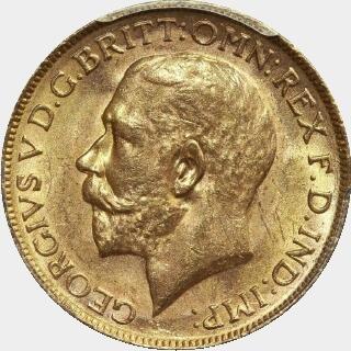 1924-M  Full Sovereign obverse