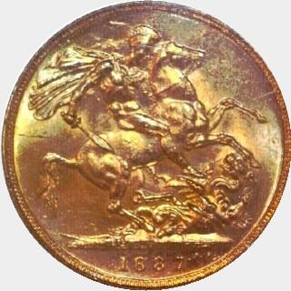 1887-M Medium JEB Full Sovereign reverse