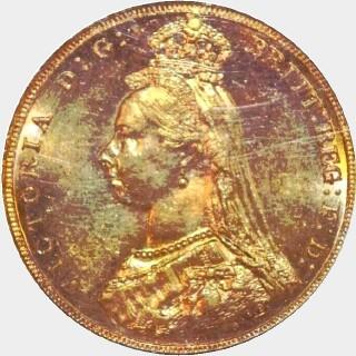 1887-M Medium JEB Full Sovereign obverse
