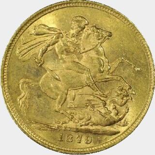 1879-S Narrow Truncation Long Tail Full Sovereign reverse