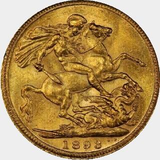 1893-S  Full Sovereign reverse
