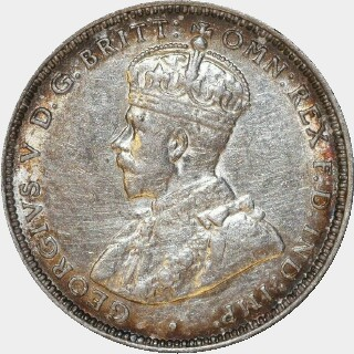 1915-H  One Shilling obverse
