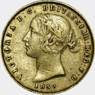 1858  Half Sovereign obverse
