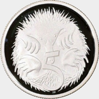 2008 Silver Proof Five Cent reverse