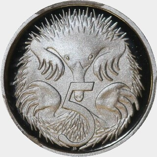 2013 Proof Five Cent reverse