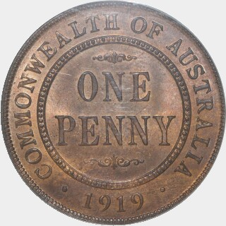 1919  Penny reverse
