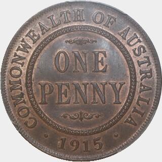 1915  Penny reverse