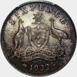 1922  Sixpence reverse