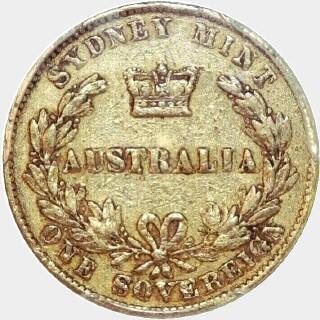 1864  Full Sovereign reverse