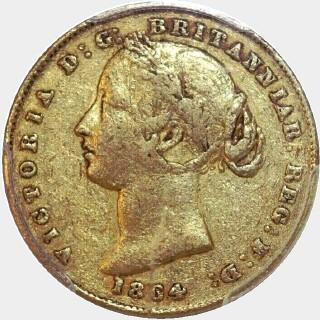 1864  Full Sovereign obverse