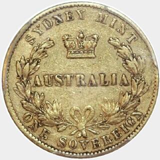 1870  Full Sovereign reverse