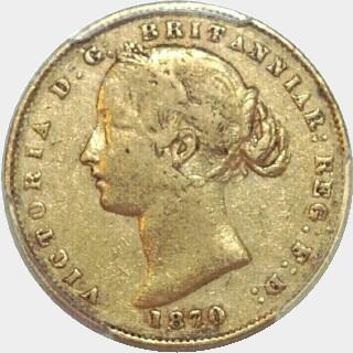 1870  Full Sovereign obverse