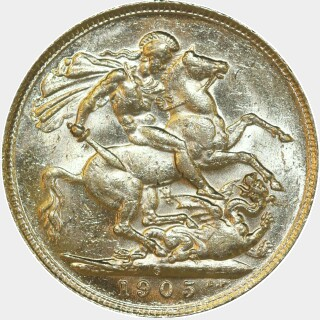 1905-P  Full Sovereign reverse