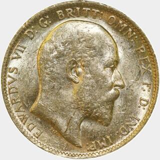 1905-P  Full Sovereign obverse